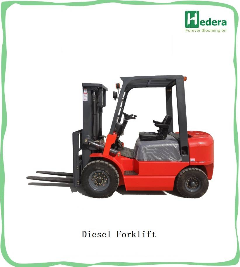 5 ton diesel forklift with import ISUZU engine CE certificate