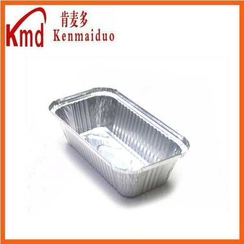 Factory wholesale airline rectangle aluminum foil food containers for packing by selling products