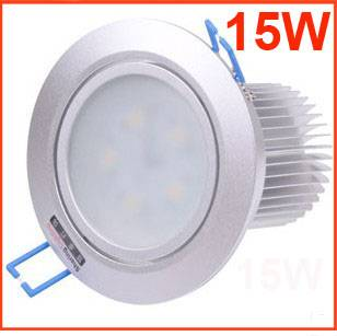 high power non dimmable 5*3W LED downlight,15W frosted glass led ceiling