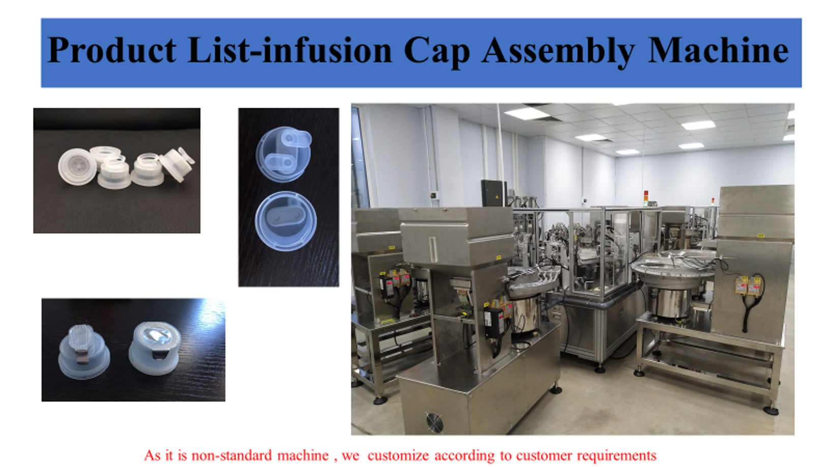 Euro head cap full atuomatic assembly machine