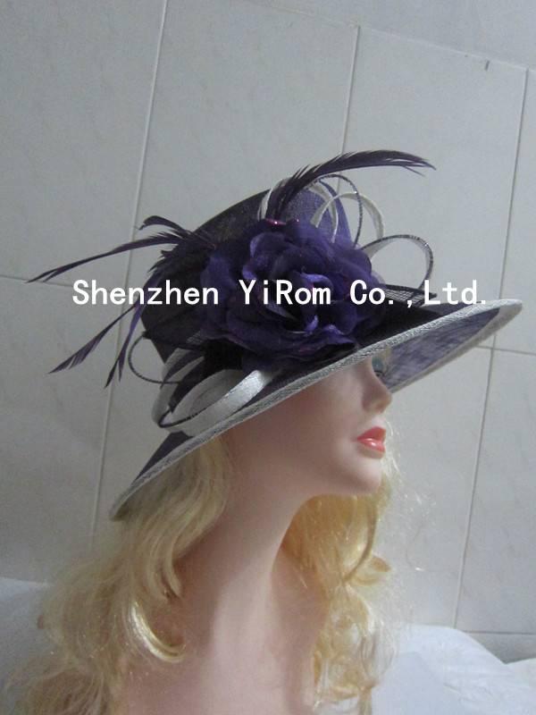 YRSM14142 sinamay hat,church hat,kentucky derby hat