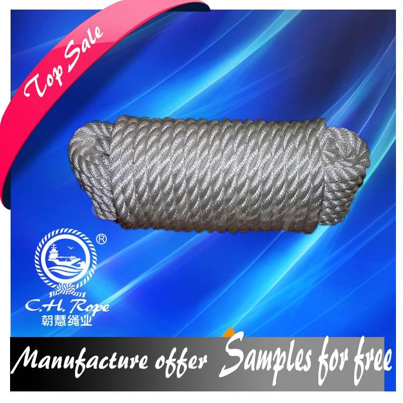 42 mm 8 Strands  Polypropylene Fiber Rope winch towing rope