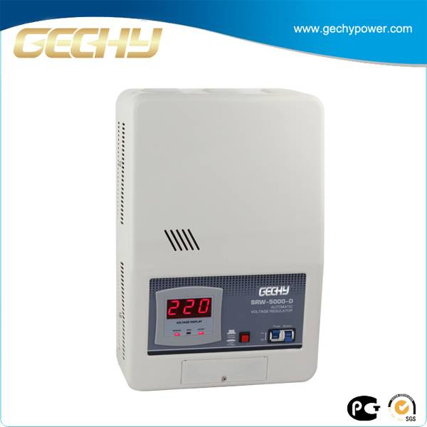 Wall Mounted LED Relay Type Air Conditioner Voltage Stabilizer SRW-5000-D