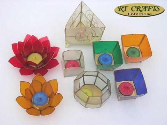 Unique Handmade Capiz Candle Holders