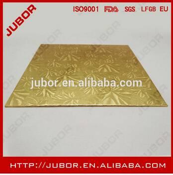 Gold Corrugated Cardboard Sheet Paper Cake Tray 1/2 Inch