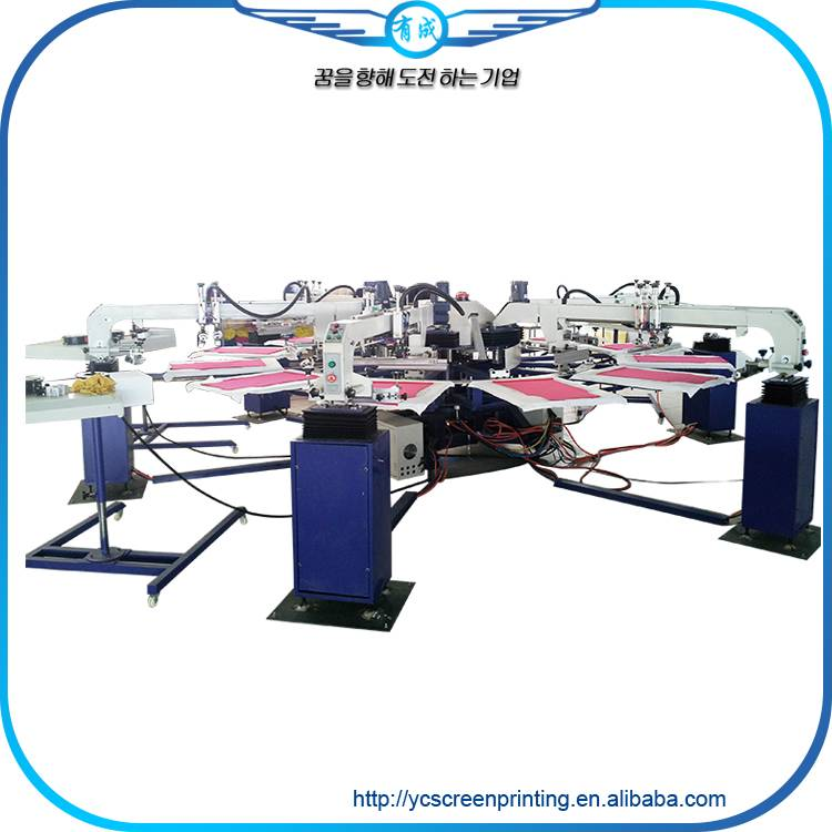 NEW YC Automatic silk screen printing machine for sale