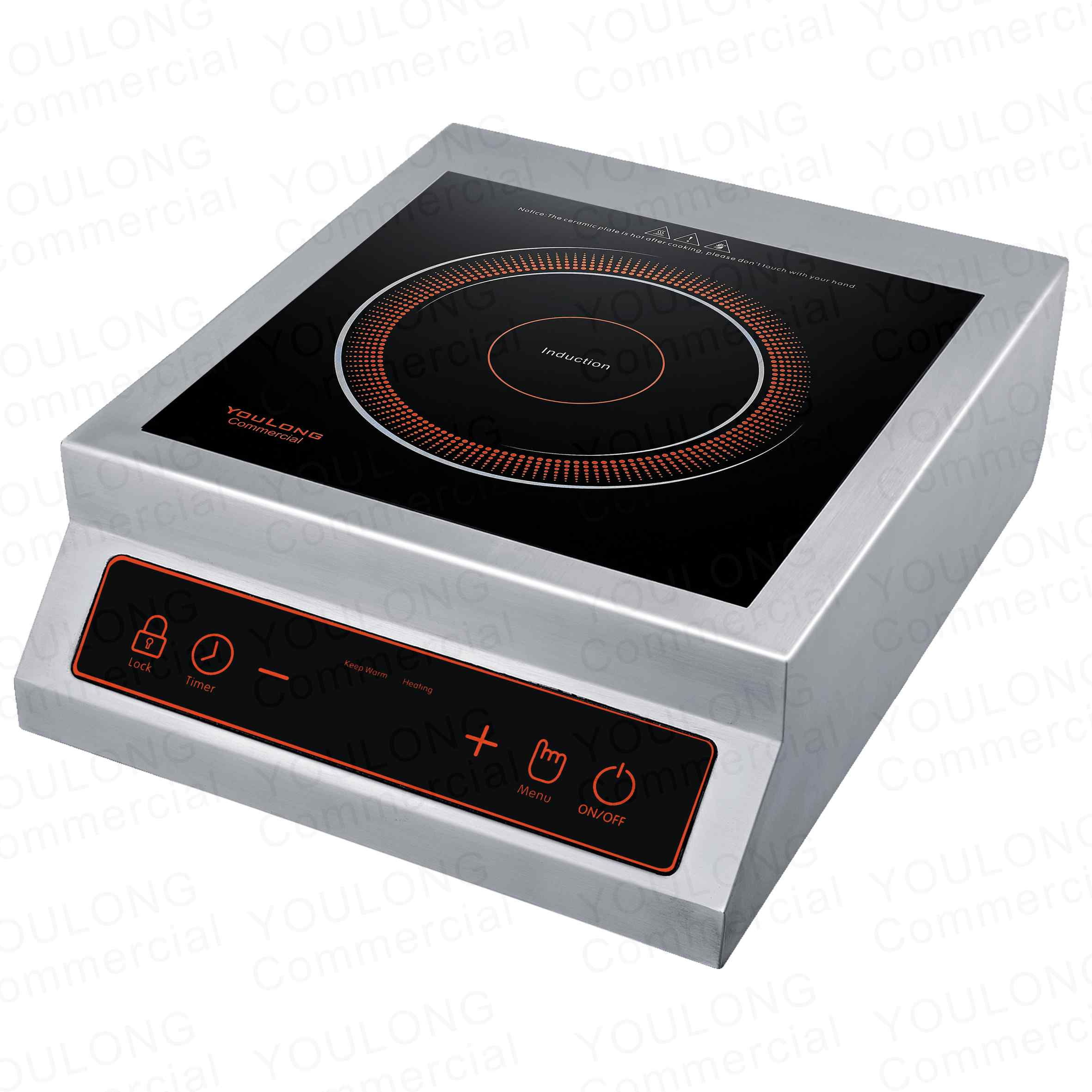 commercial induction cooker C5101-B Press Control