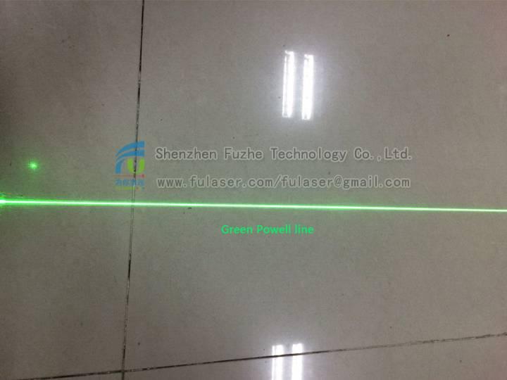 FU520AB30-GD16 520nm 30mW powell lens generator line laser green diode module