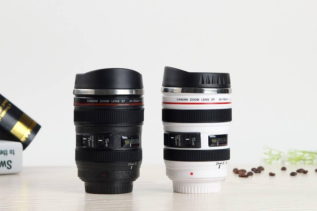 Canon camera lens coffee mug