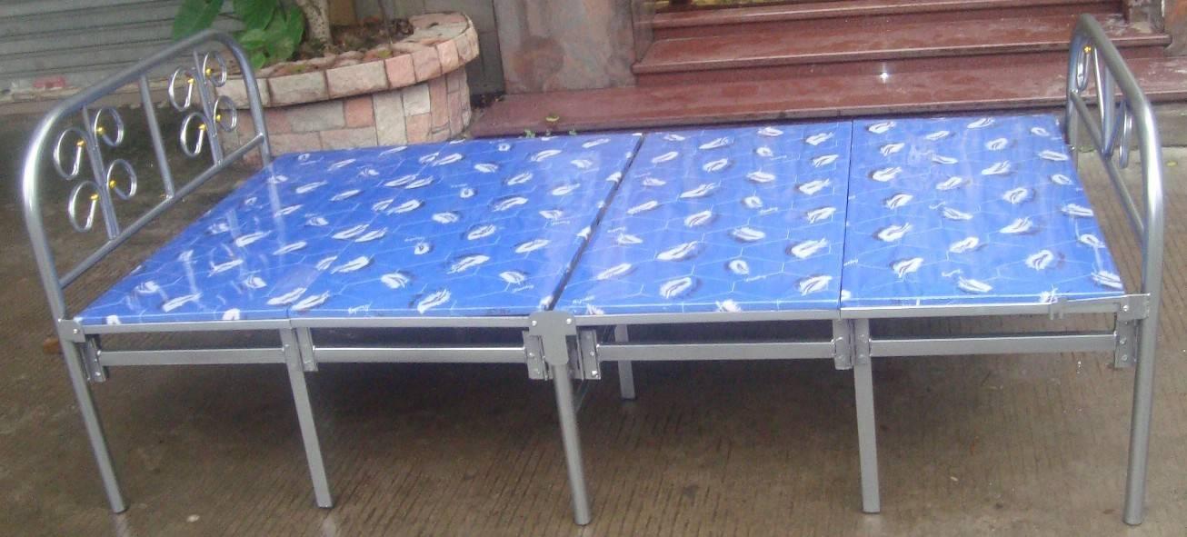 four layers ten legs metal folding bed (SM-003)