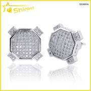 hip hop lab created diamond mens cz earrings