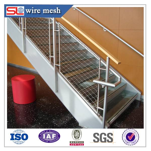 stairway decorative stainless steel wire rope mesh