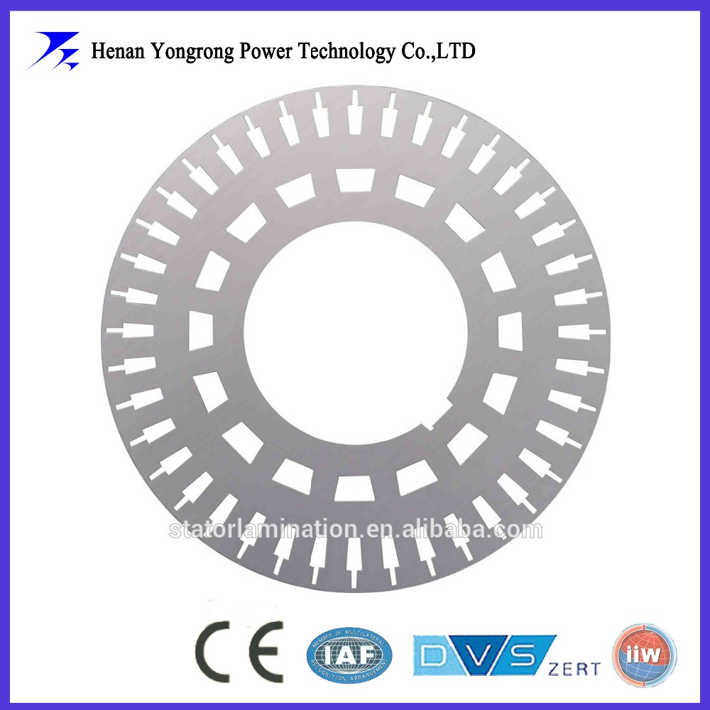 IE4 Permanent magnet motor stator and rotor silicon steel lamination