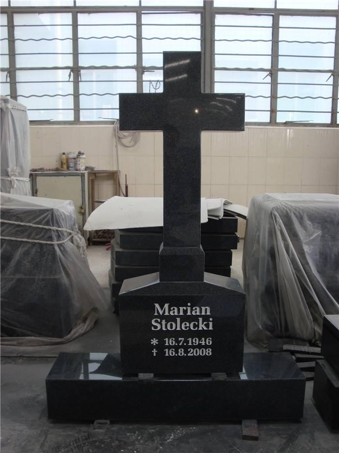 Cross carving headstone granite monument