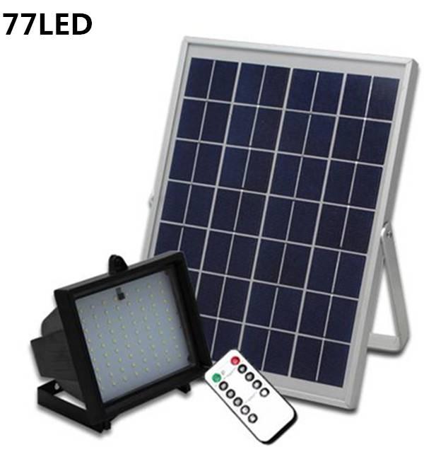 77LED Solar Spot Light With Remote Control Solar Flood Light Outdoor Wall Lighting for Garden Solar