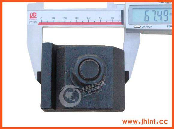 38-43kg single hole rail clamp without pin