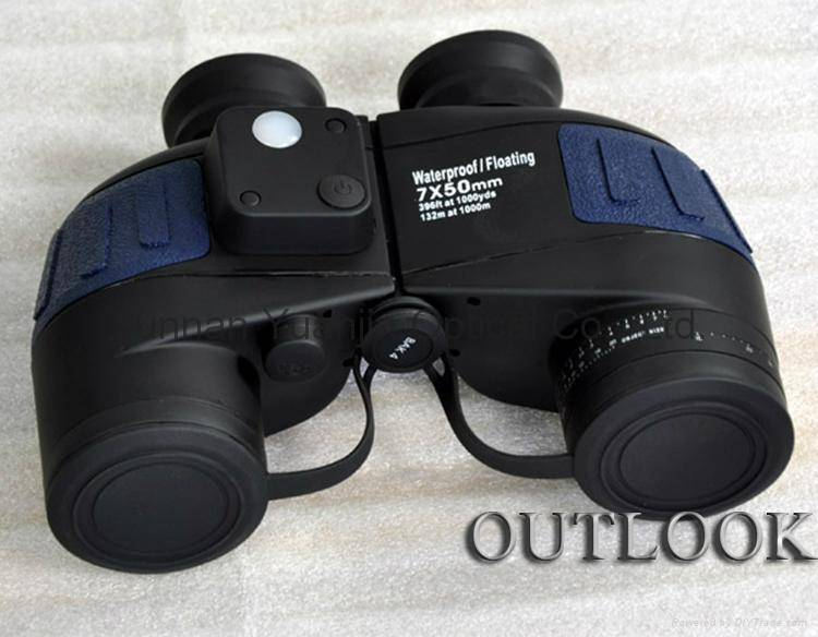 marine binocular 7x50 floatable with compass,waterproof