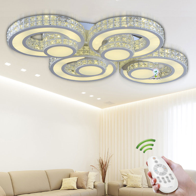 Modern Crystal ceiling lights Luminaria For Indoor Lamp Lamparas De Techo Wireless Ceiling Light