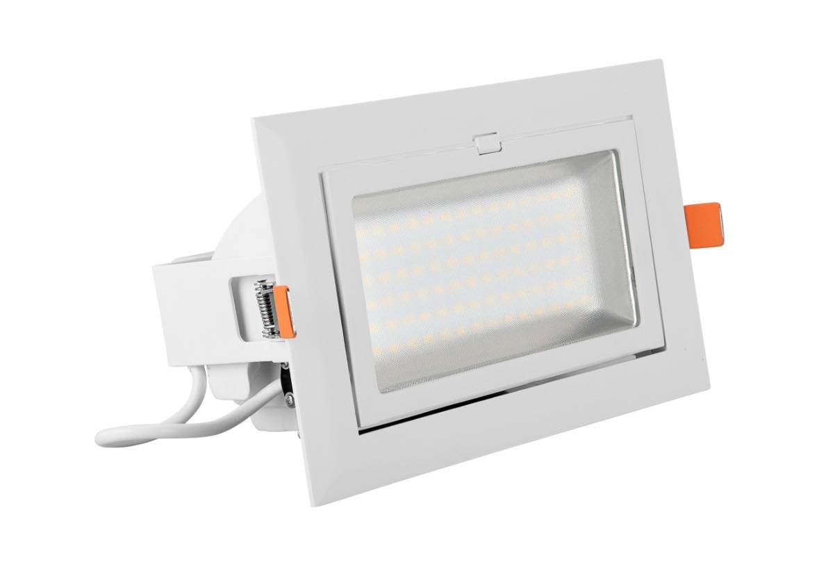 higt quality 50W led square recessed light cover with SAA / C-tick / CE / RoHS approved