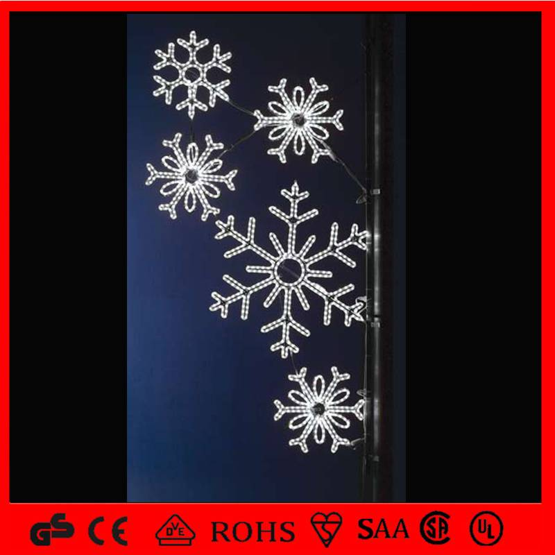 outdoor use christmas decoration street light pole