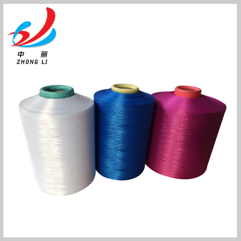100% polyester drawn textured yarn DTY 150/48 300/96 dope dyed colors