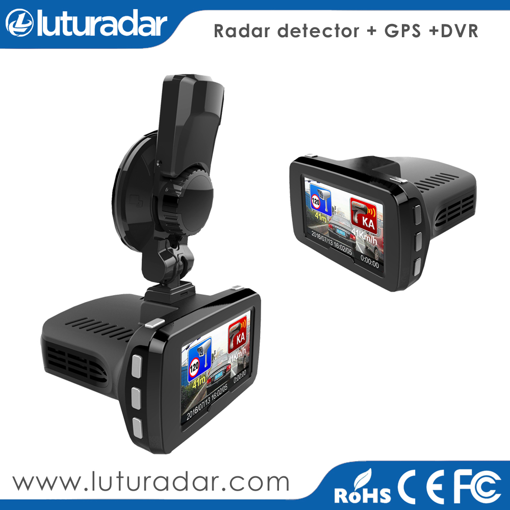 3 in 1 1080P FHD Ambarella A7 Car DVR GPS Radar Detector with night version camera recorder