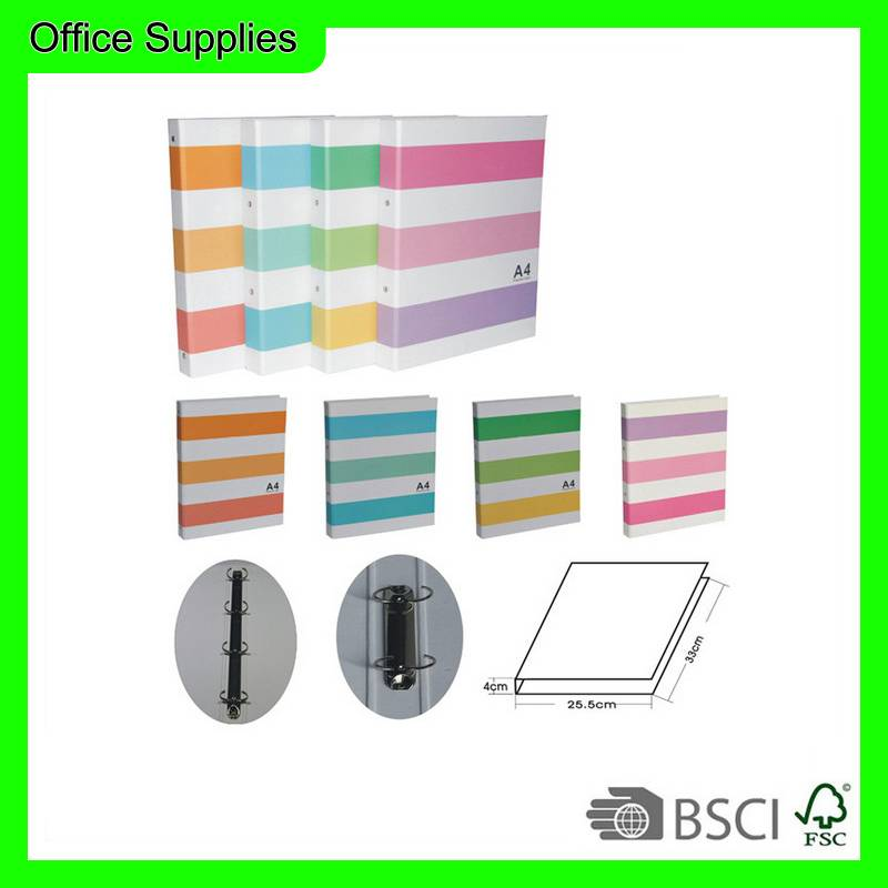 Factory directly sale cartoon stripe box file