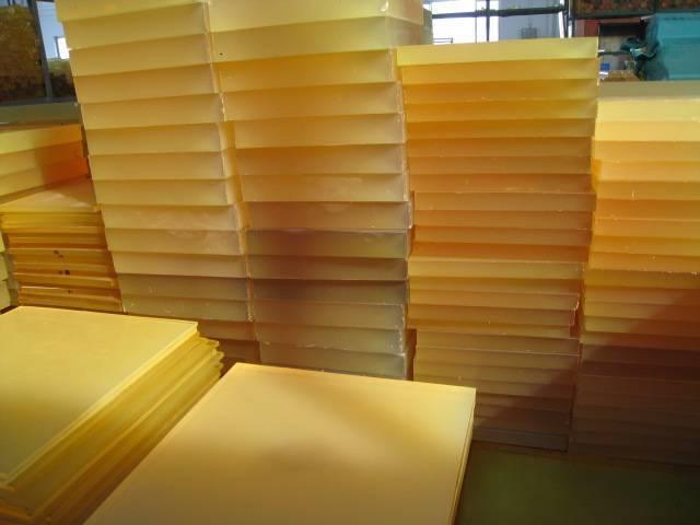 Light yellow100% virgin polyurethane sheet