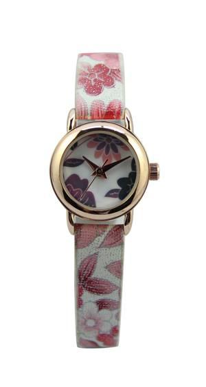 New Style Watch Fashion Watch Flower PU Strap Watch Woman Watch (RA1261)