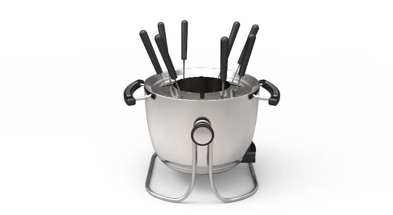 Multi-function hot pot Electric stainless steel fondue set
