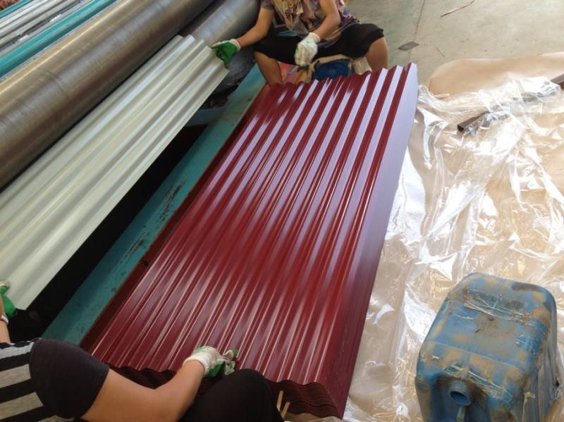 Color coated galvanized steel tile