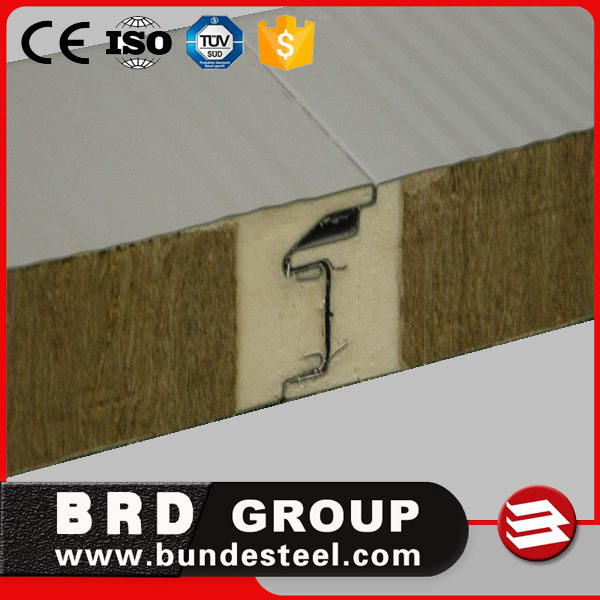 Fire Rated Insulated Rock Wool Sandwich Wall Panel