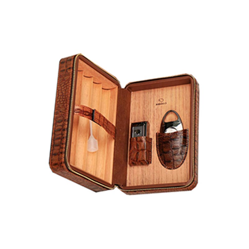 Custom Brown Leather Collection 12 Count Travel Cigar Humidorbest cigar humidifier