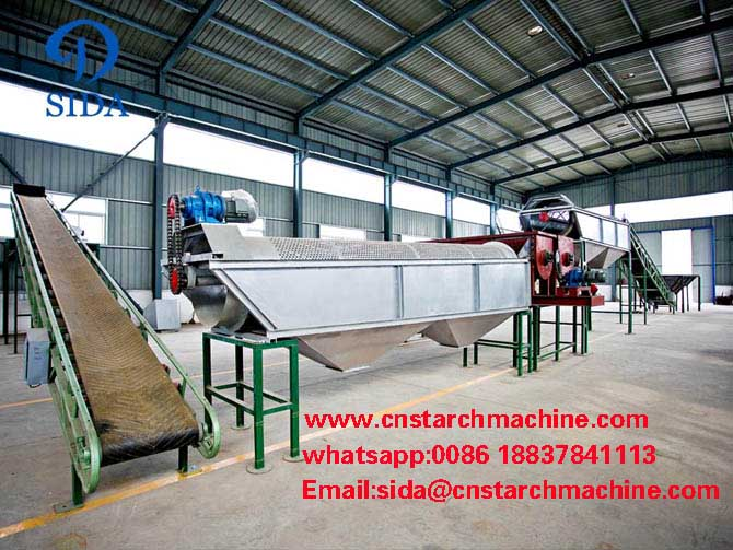 Machine used for starch produdction from cassava