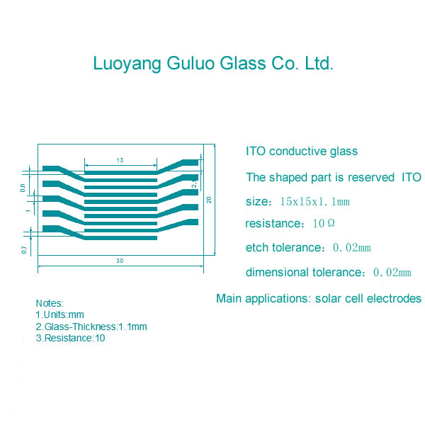 Glass etching Ito/Fto conductive glass / photocatalysis provide etching/Provide etching pictures, ca