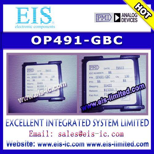 OP491-GBC - PMI - Micropower Single-Supply Rail-to-Rail Input/Output Op Amps