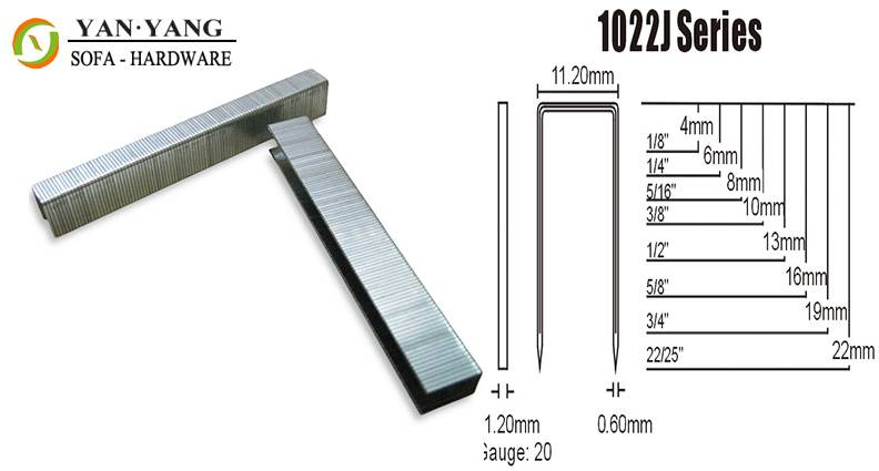 1022J series silver color furniture staples sofa staples mattress clips spring clips