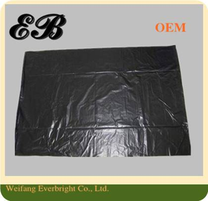 Square Bottom Black PE/Poly Garbage Bag,Rubbish Packing Bag,Waste Packaging Bag