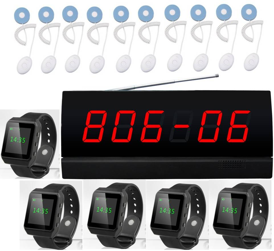 Nurse calling system, patient call, hospital/clinic wireless service system, watch pager