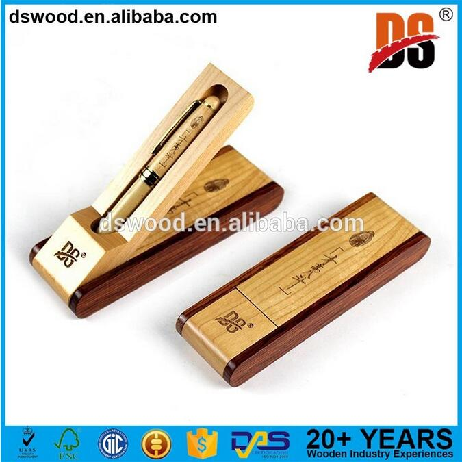 China school supplies custom logo promotional recycled wooden ball point pen