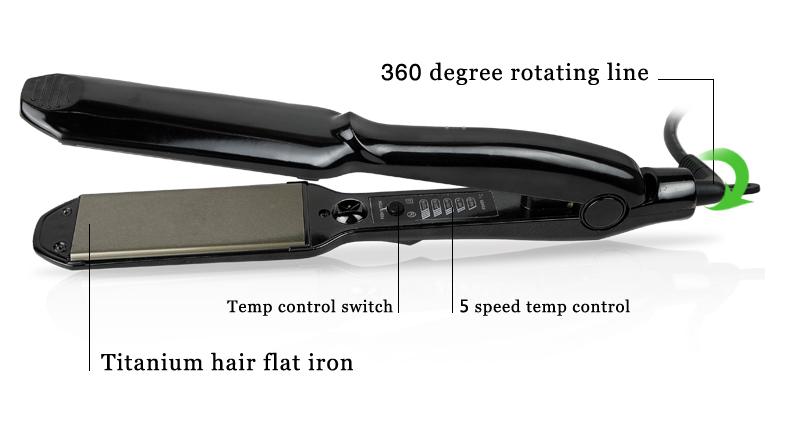 Professional Flat Iron Fast Heat Design Hair Straightener