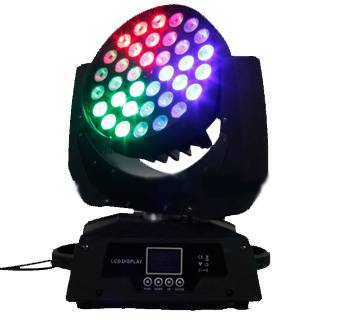36x18W RGBWYUV 6 IN 1 LED Moving Head Light ZOOM 5%off Free Shipping