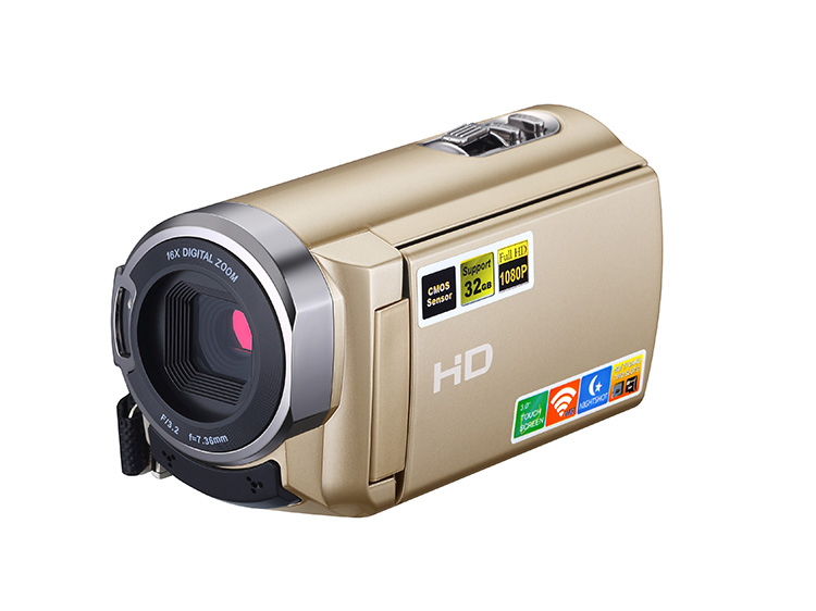 touch panel ir hd camcorder with 5 million pixel and wifi function