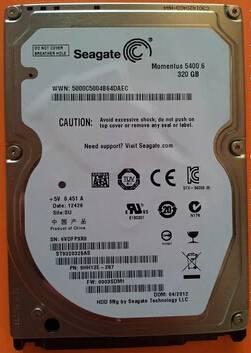 ST9320325AS  320G 2.5' 5400M 8MB LAPTOP HARD DISK