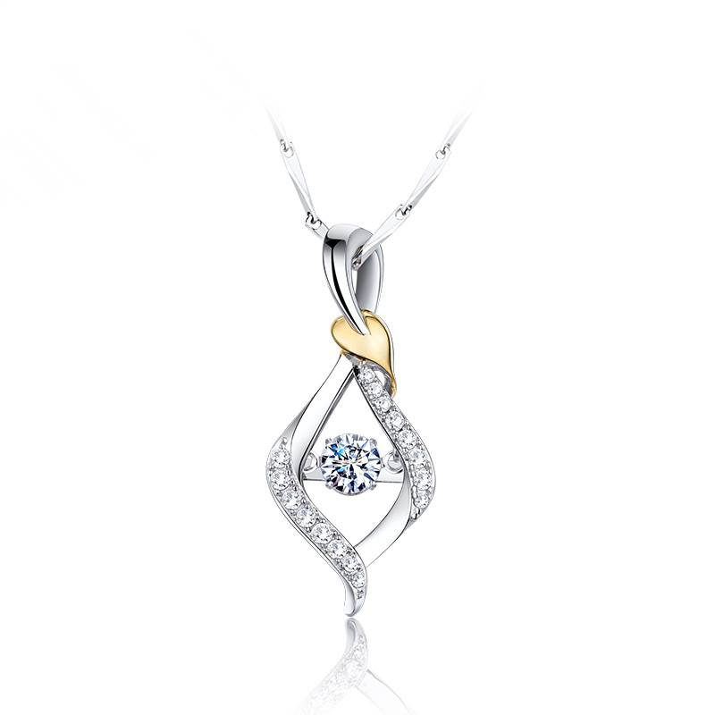 Love on your leaves  925 silver  cham necklace for women