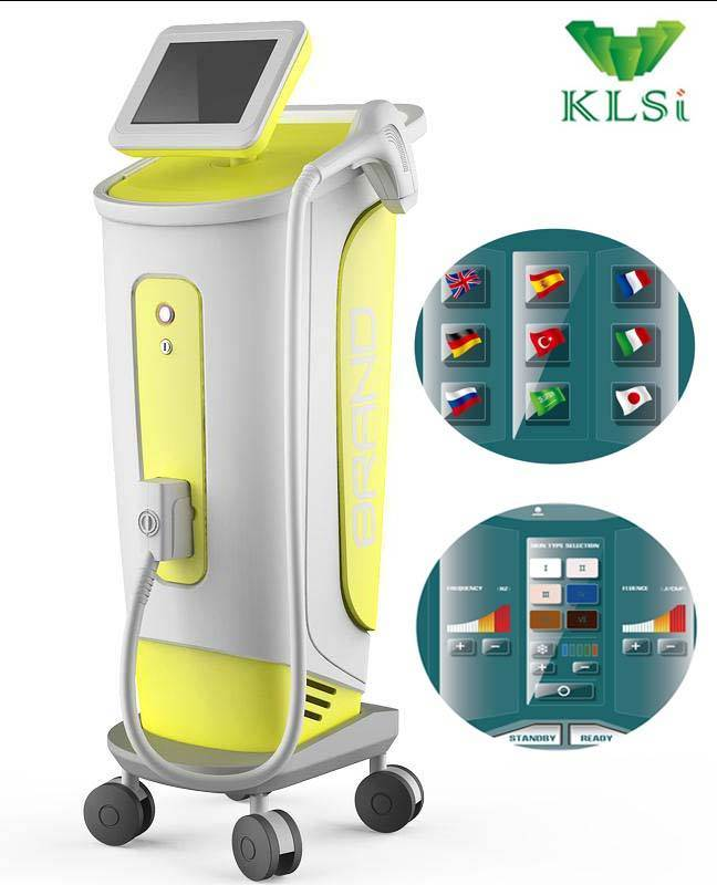 semiconductor diode laser hair removal beauty machine