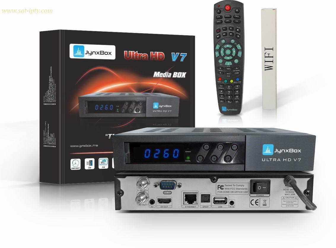 JYNXBOX V7 ultral HD  , V10 with JB200 Tuner DVB-S2 wifi IPTV