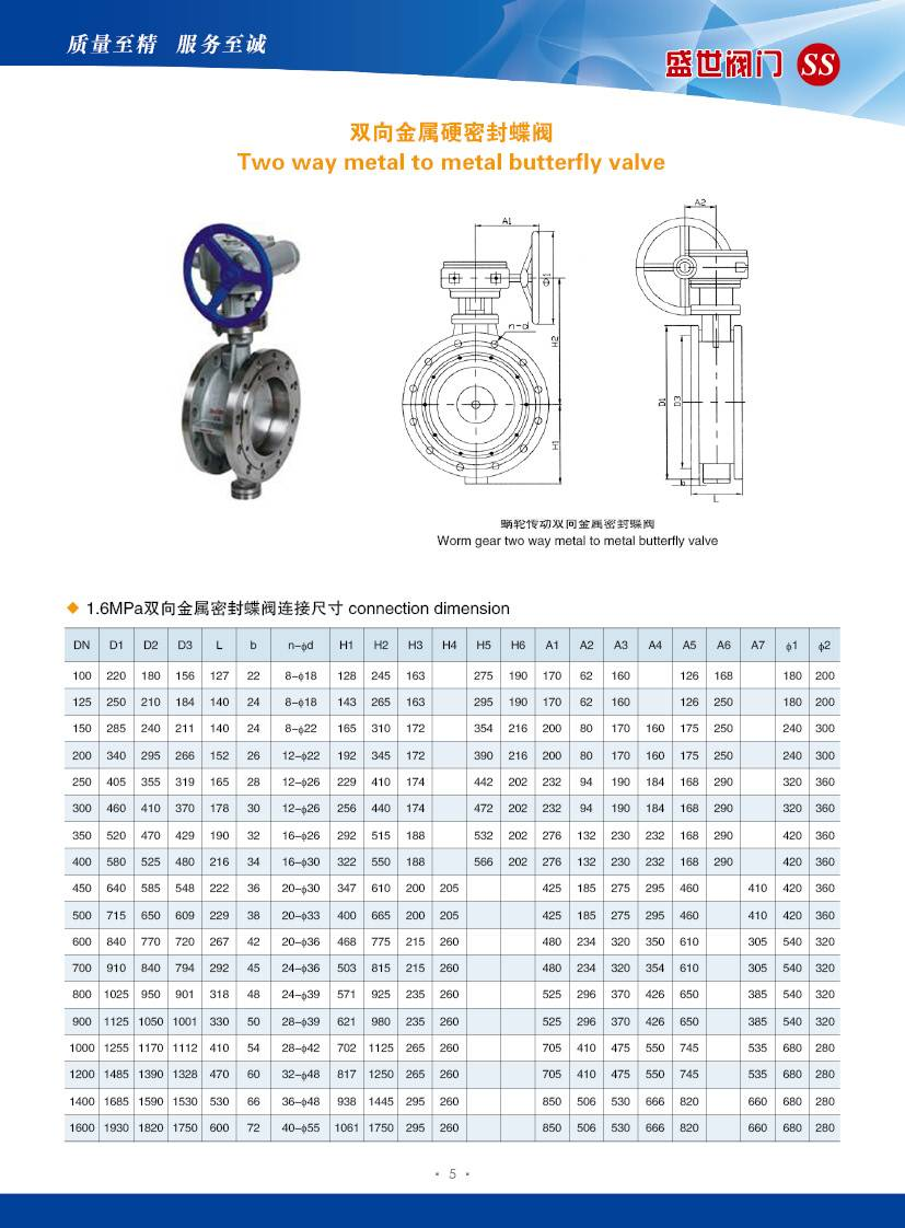 Flanged Metal Seat Butterfly Valve