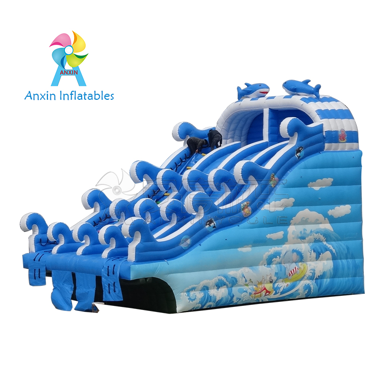 Eco-friendly Surfing Inflatable commercial Water Slides, water slide with pool, water park inflatabl