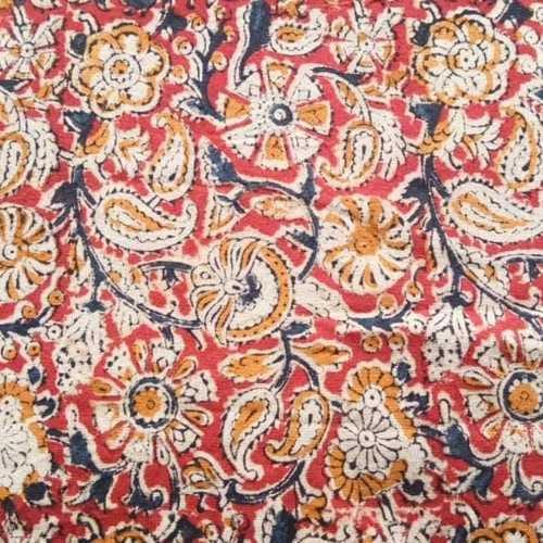Kalamkari hand blocked cotton fabric
